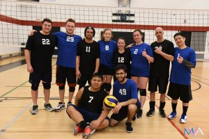 Canada Deaf Games Volleyball 2018 - Blue & Black team photo
