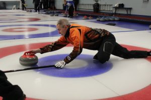 John Gessner - curling in Canada Deaf Games 2018