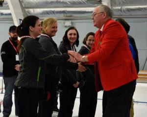 Resby Coutts, Curling Canada President and Team Beriault - Curling CDG 2018