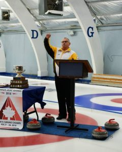 Montie Brown, MC - Curling - CDG 2018
