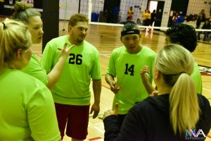 Green Team Huddle - Volleyball CDG 2018