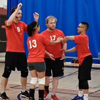 Volleyball - CDG 2018 - Red Team High Fives
